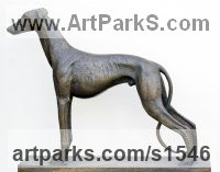 BRONZE Commission and Custom and Bespoke sculpture sculpture by sculptor David Cornell titled: 'GREYHOUND FAITHFULL HOPE (Bronze sculpture)'