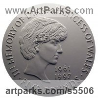 Commemoratives and Memorials sculpture by sculptor David Cornell titled: 'In memory of Diana Princess of Wales'