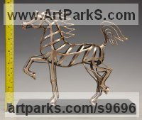 Bronze Horses Abstract / Semi Abstract / Stylised / Contemporary / Modern Statues Sculptures statuettes sculpture by David G Smith titled: 'JOLLY TROTTER (Contemporary Little Arab sculptures)'