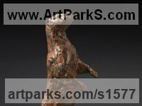 Bronze Badger, Otter, Beaver, Weasel, Stoat, Pine Martin, Wombat sculpture by David Mayer titled: 'Otter (Small Standing bronze sculptures/statuettes/figurines for sale)'