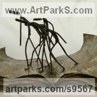 Metal Couples or Group sculpture by Dawn Boys-Stones titled: 'Paradise Lost'