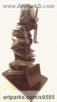Mild Steel Figurative Public Art sculpture by Dawn Boys-Stones titled: 'The Quest for Knowledge'