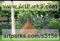 Ceramics[High-fired Stoneware] Abstract Contemporary or Modern Outdoor Outside Exterior Garden / Yard sculpture statuary sculpture by sculptor Dennis Kilgallon titled: 'Dome (Small ceramic Minarette garden sculptures)'