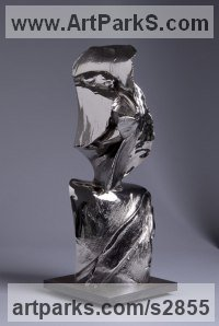 Bronze Abstract Modern Contemporary sculpture statuettes figurines statuary sculpture by sculptor Ebitenyefa Baralaye titled: 'Jonah (Bronze abstract figurative Indoor statue)'