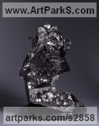 Emotion Sculpture by sculptor artist Ebitenyefa Baralaye titled: 'Lazarus (abstract Nickel/bronze Modern statue)' in Bronze
