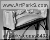 Marble Love / Affection sculpture by Edward Fleming titled: '1234 (Clasped Lovers Hands Carved marble statue)'