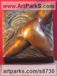 Bronze Objects of desire sculpture by Edward Fleming titled: 'Betty (Miniature nude female Torso Abdomen statuette)'