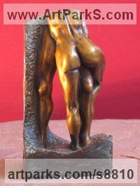 Bronze Nude or Naked Couples or Lovers sculpture by Edward Fleming titled: 'l`Abbraccio (Bronze maquette)'