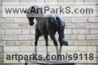 Bronze Polo Pony and Pony sculpture / statue / statuette / figurine / ornament Portraits Commissions Memorials sculpture by Edward Waites titled: '1/3 life-size colt (Trotting Young Horse Indoor statue)'