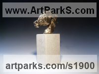 Pet and Animal Portrait Custom or Bespoke or Commission Commemorative or Memoriaql sculpture statue by sculptor artist Edward Waites titled: 'Horse Head I (Small bronze Horse Head Bust statue statuette figurine)' in Bronze