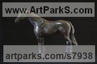 Bronze Horse Sculpture / Equines Race Horses Pack HorseCart Horses Plough Horsess sculpture by Edward Waites titled: 'Kingman Maquette (Little Racehorse Portrait statuette)'