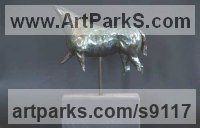 Bronze Horses Small, for Indoors and Inside Display Statues statuettes Sculptures figurines commissions commemoratives sculpture by Edward Waites titled: 'On the Mover (Horse Torso)'