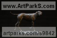Bronze Dogs sculpture by Edward Waites titled: 'Ridgeback (little Bronze Walking Dog statuettes)'