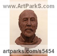 Clay Busts and Heads sculpture statuettes Commissions Bespoke Custom Portrait Memorial Commemorative sculpture or sculpture by sculptor Elisabeth Hadley titled: 'Peter'