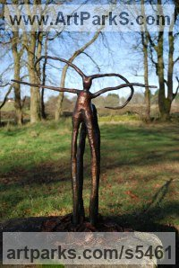 Cast Bronze Mythical sculpture by Elizabeth Rollins-Scott titled: 'Centaur (abstract bronze Modern statues)'