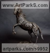 Bronze Farm Yard sculpture by Elliot Channer titled: 'Arabian Stallion'