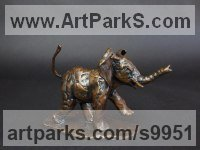 Bronze Wild Animals and Wild Life sculpture by Elliot Channer titled: 'Elephant Calf'