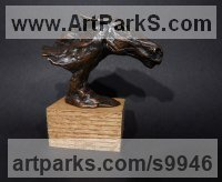 Bronze Horses Small, for Indoors and Inside Display Statues statuettes Sculptures figurines commissions commemoratives sculpture by Elliot Channer titled: 'Horse Head 2'