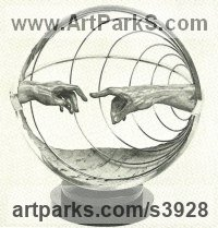 Bronze Architectural sculpture by Enzo Plazzotta titled: 'Study for the Marconi Award'