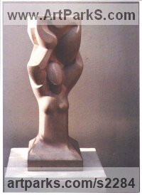 Hoptonwood Stone Figurative Abstract Modern or Contemporary Sculptures Statues statuary statuettes figurines sculpture by Eric Stanford titled: 'Tree of Life II (abstract Contemporary Carved stone statue/sculptures)'