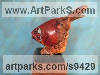 Wood Carved Wood sculpture by Felix Velez titled: 'Driftwood Fish (With certificate of authenticity)'