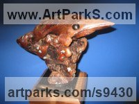 Manzanita wood Carved or Carving sculpture by Felix Velez titled: 'Little Heron sculpture (Carved Drift Wood abstract)'