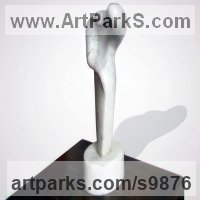 Marble Figurative Abstract Modern or Contemporary Sculptures Statues statuary statuettes figurines sculpture by Figen Kocamaz titled: 'woman I (abstract Simplistic Indoor marble sculpture)'