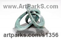 Bronze Abstract Modern Contemporary Avant Garde Sculptures Statues statuettes figurines statuary both Indoor Or outside sculpture by Gill Brown titled: 'Capricorn (Small bronze Zodiac Indoor Birthsign Contemporary sculpture)'