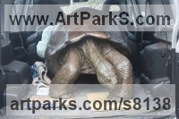 Bronze Objects of desire sculpture by Gill Parker titled: 'Galapagos Tortoise I (Giant life size sculpture)'