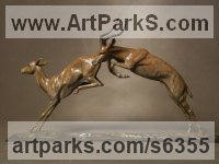 Bronze Deer sculpture by Gill Parker titled: 'Impala (Bronze Leaping African Antelopes sculptures)'