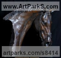 Bronze Animals in General Sculptures Statues sculpture by Gill Parker titled: 'life size Frankel'