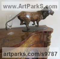 Bronze Cats Wild and Big Cats sculpture by Graham High titled: 'Lion'
