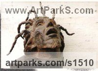 Pop Art Sculpture by sculptor artist Guy Portelli titled: 'Lion of Zion (Bob Marley Contemporary Modern Portrait Head bronze Bust)' in Bronze