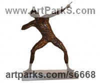 Celebrity and Star sculpture by Harriet Glen titled: 'Usain Bolt (Bronze Small/Little Athlete sculpture/statue/statuettes)'