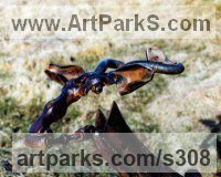Up Cycled Scrap metal Deer sculpture by Helen Denerley titled: 'Cabra Vieja (Deer Antelope Upcycled Metal statues)'
