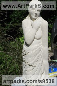 Limstone Carved Stone, Marble, Alabaster, Soap Stone Granite Lime stone sculpture by Henrietta Bud titled: 'Lot`s Wife'