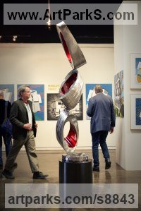 Stainless steel Fabricated Metal Abstract sculpture by Hunter Brown titled: 'Flux II'