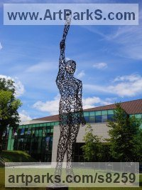 Steel Monumental sculpture by Ian Campbell-Briggs titled: 'Juno (Metal Frame nude standing Yard sculpture)'