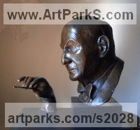 Bronze Commission and Custom sculpture by Ian Milner titled: 'Sir Georg Solti (bronze Commission Portrait Bust sculptures/statues)'