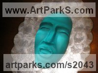 Cast glass Portrait Sculptures / Commission or Bespoke or Customised sculpture by sculptor İpek Candaş titled: 'Fragile (Contemporary Decorative Glass Faces sculpture)'