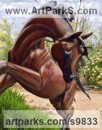 Bronze Horse and Rider / Jockey Sculpture / Equestrian sculpture by J Anne Butler titled: 'FREEDOM sculpture life size Bronze'