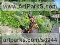 Bronze Public Art sculpture by J Anne Butler titled: 'Solitaire II (life size Bronze nude Woman sculpture)'