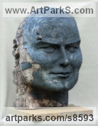 Ceramic Stylised Heads / Busts sculpture by Jacek OPAŁA titled: 'Found in Pompei'