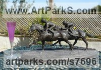 Animal Kingdom sculpture by Jacqueline Billington (ne Warren) titled: 'Racehorses'