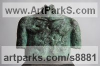 Bronze Torsos Sculptures or Chests of Men and Women Females Girls Children Statues statuery statuettes sculpture by Jacques Cassiman titled: 'Little Torso (abstract Contemporary Chest statuette)'