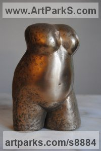 Bronze Small / Little Figurative sculpture / statuette / statuary / ornament / figurine sculpture by Jacques Cassiman titled: 'Madre (MotherLittle nude female Torso statuettes)'