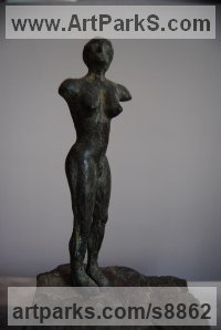 Bronze Semi Nude / Naked Girls Females Women sculpture by Jacques Cassiman titled: 'Toscana 2'