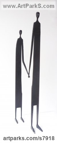 Mild Steel Fabricated Metal Abstract sculpture by James Adams titled: 'Better Together'