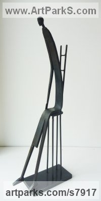 Mild Steel Fabricated Metal Abstract sculpture by James Adams titled: 'Don`t Get Up'