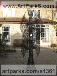 Mild Steel Human Form: Abstract sculpture by sculptor James Jones titled: 'Twist of Fate?'